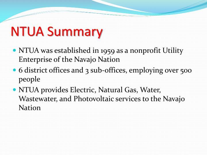 NTUA Summary