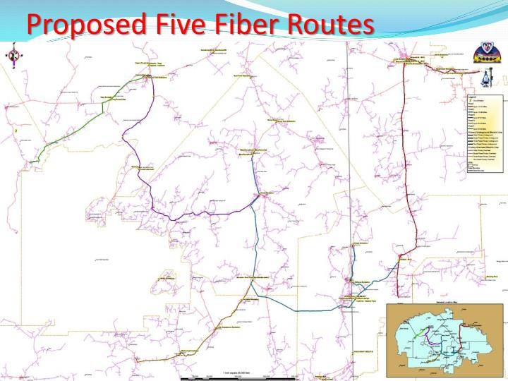 Proposed Five Fiber Routes