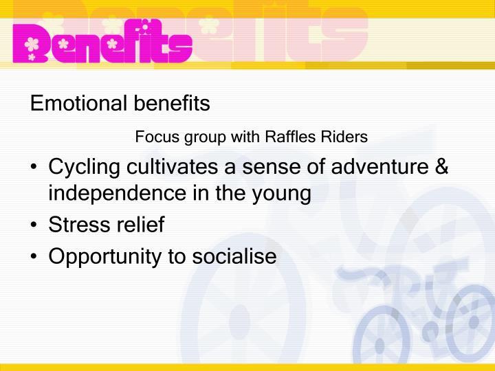 Emotional benefits