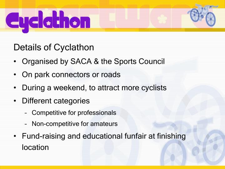 Details of Cyclathon