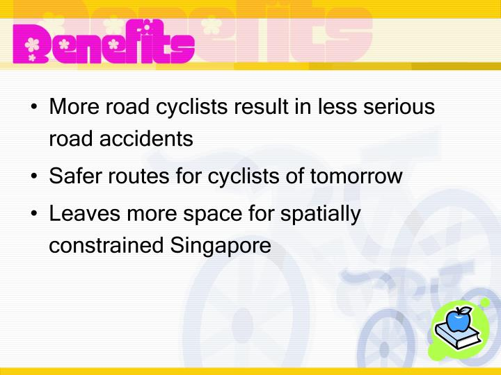 More road cyclists result in less serious road accidents