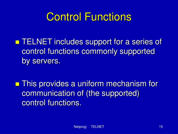 Control Functions