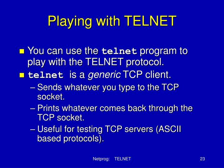 Playing with TELNET
