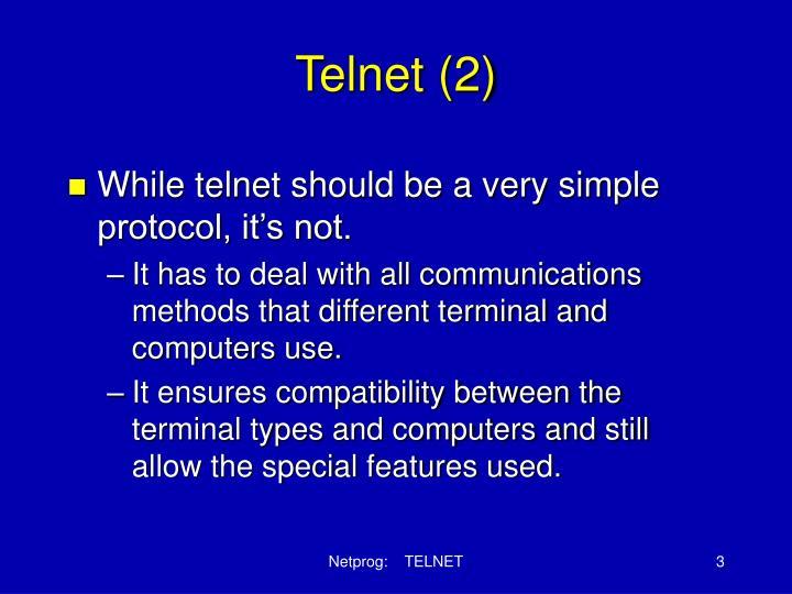 Telnet (2)