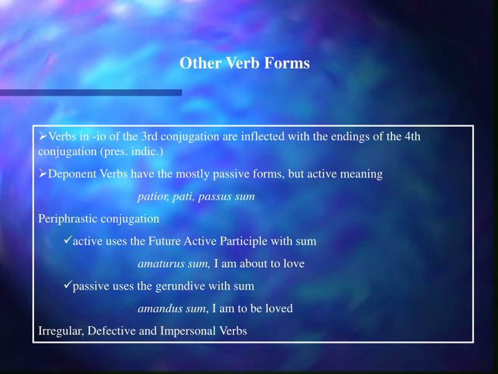 Other Verb Forms