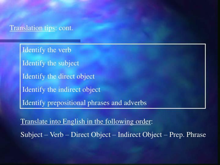 Translation tips