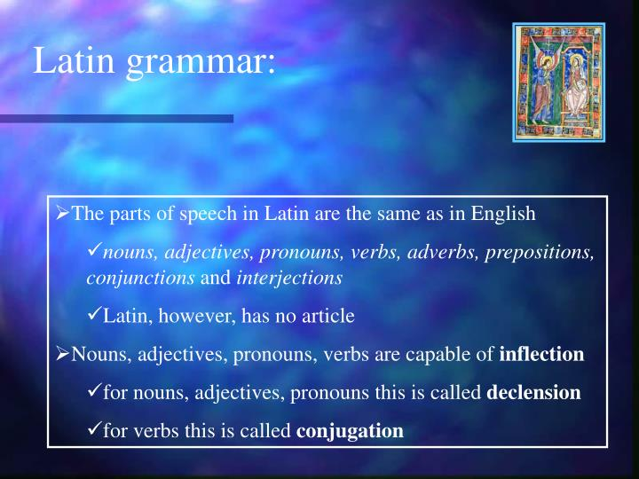 Latin grammar: