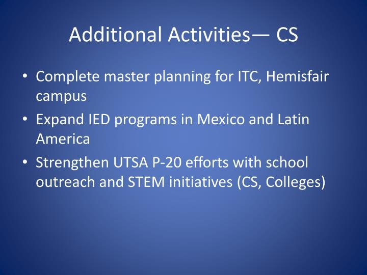 Additional Activities—CS