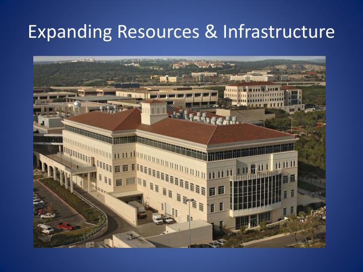Expanding Resources & Infrastructure