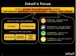 intuit s focus