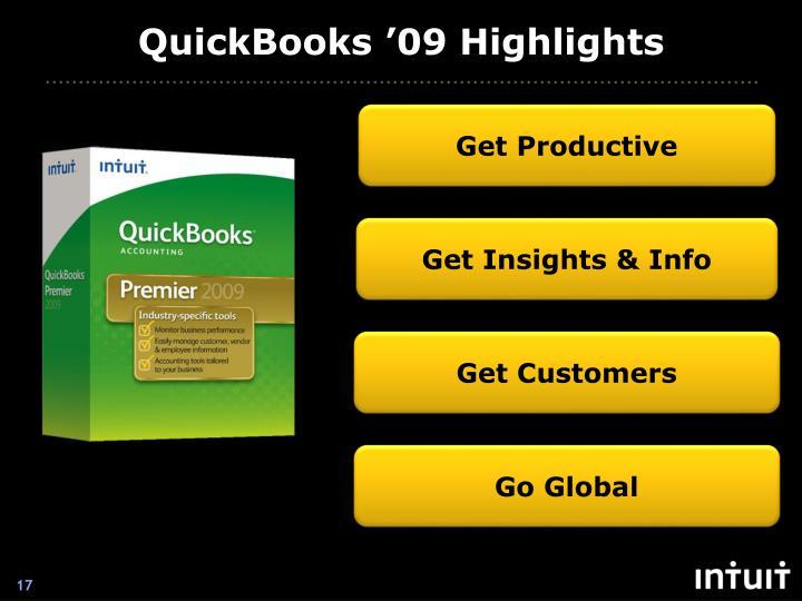 QuickBooks '09 Highlights