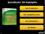 quickbooks 09 highlights