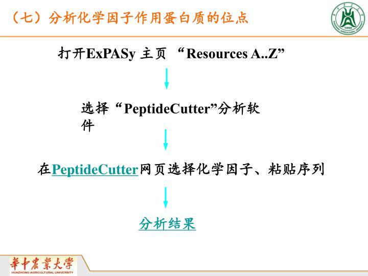 (七)分析化学因子作用蛋白质的位点