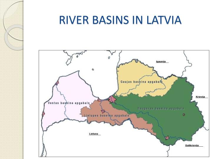 RIVER BASINS IN LATVIA