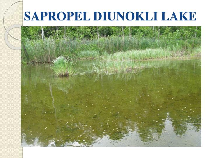 SAPROPEL DIUNOKLI LAKE