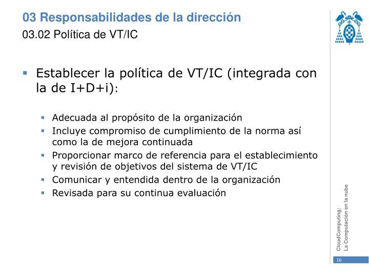 03.02 Política de VT/IC