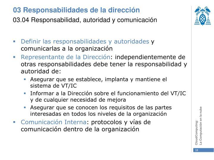 03.04 Responsabilidad, autoridad y comunicación