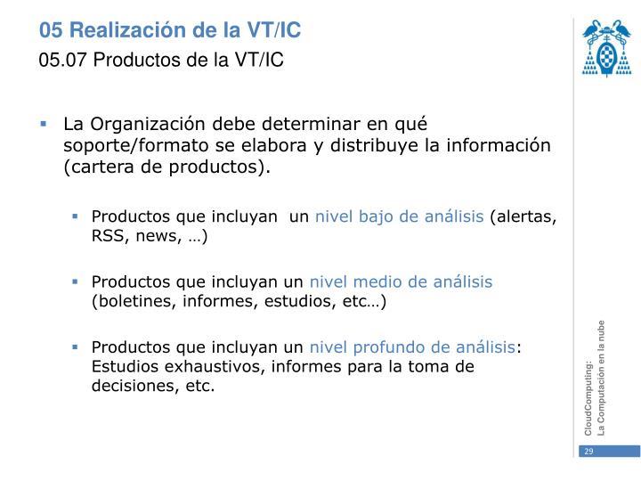 05.07 Productos de la VT/IC