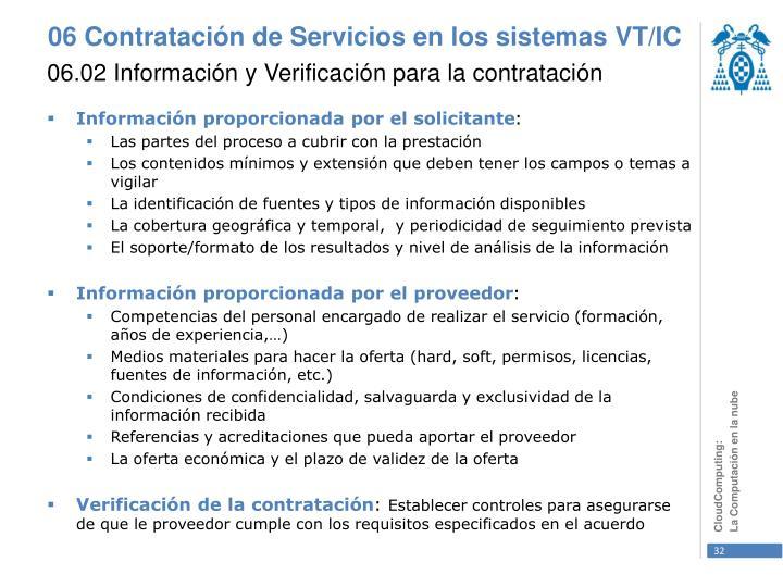 06.02 Información y Verificación para la contratación