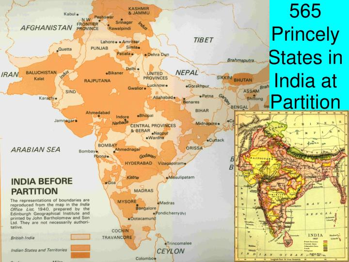 565 Princely States in India at Partition