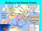 breakup of the roman empire