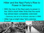 hitler and the nazi party s rise to power in germany