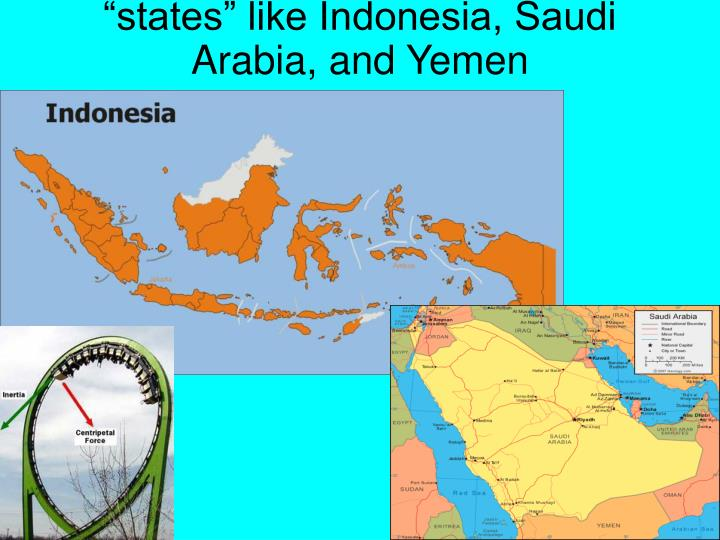 """states"" like Indonesia, Saudi Arabia, and Yemen"