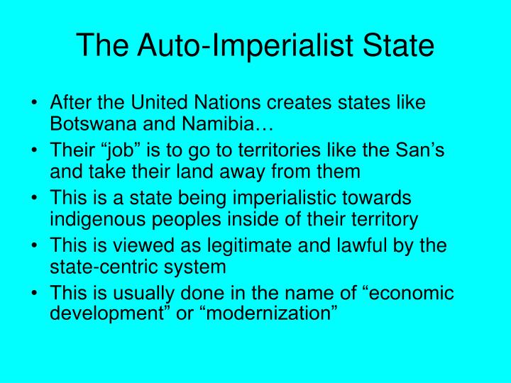 The Auto-Imperialist State