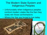 the modern state system and indigenous peoples