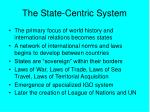 the state centric system