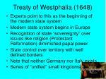 treaty of westphalia 1648