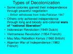 types of decolonization