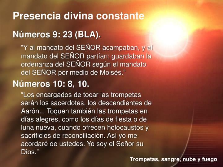 Números 9: 23 (BLA).