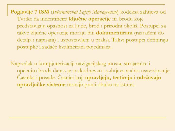 Poglavlje 7 ISM