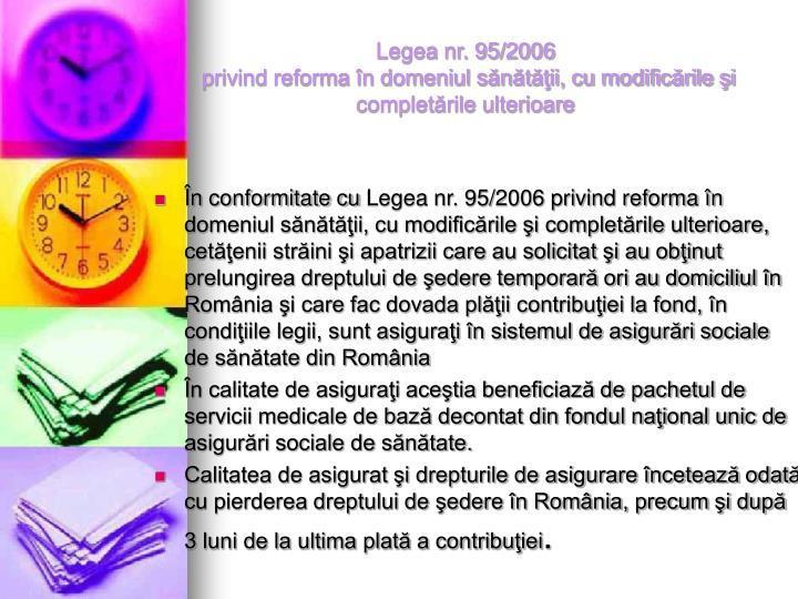 Legea nr. 95/2006