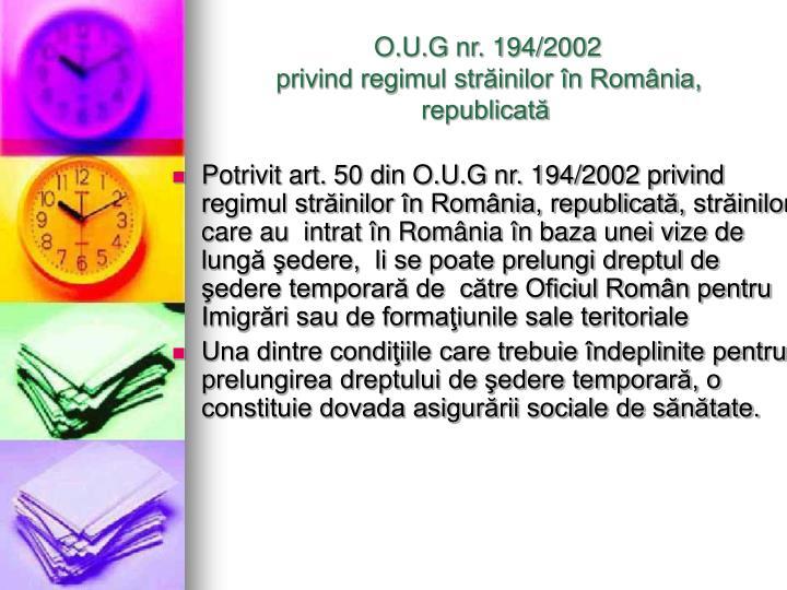 O.U.G nr. 194/2002