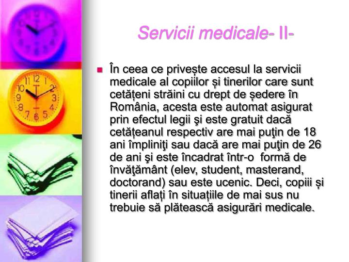 Servicii medicale-