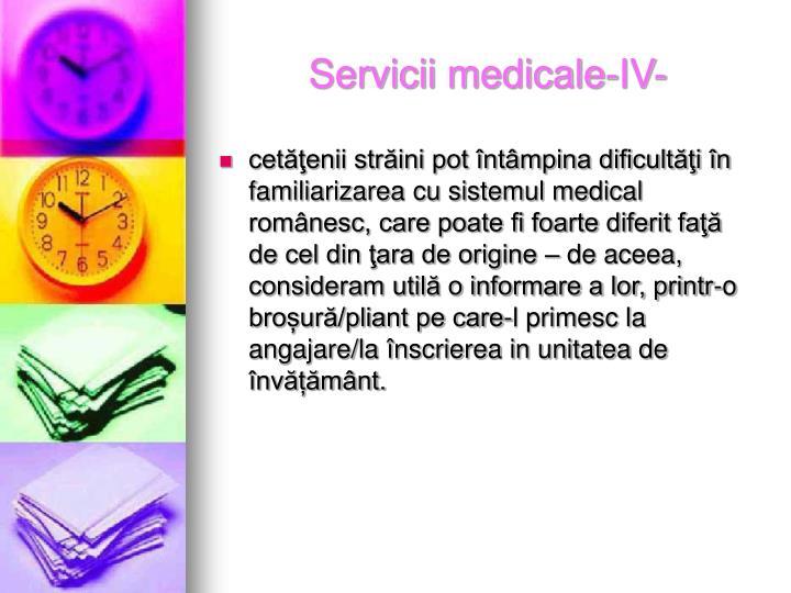 Servicii medicale-IV-
