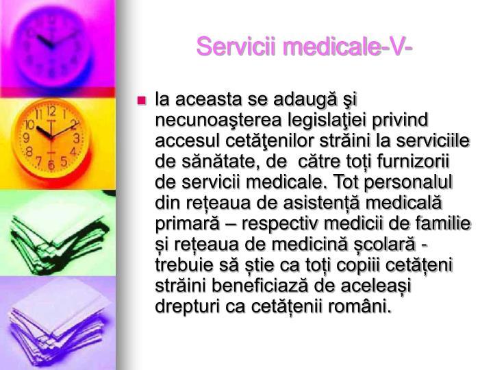 Servicii medicale-V-