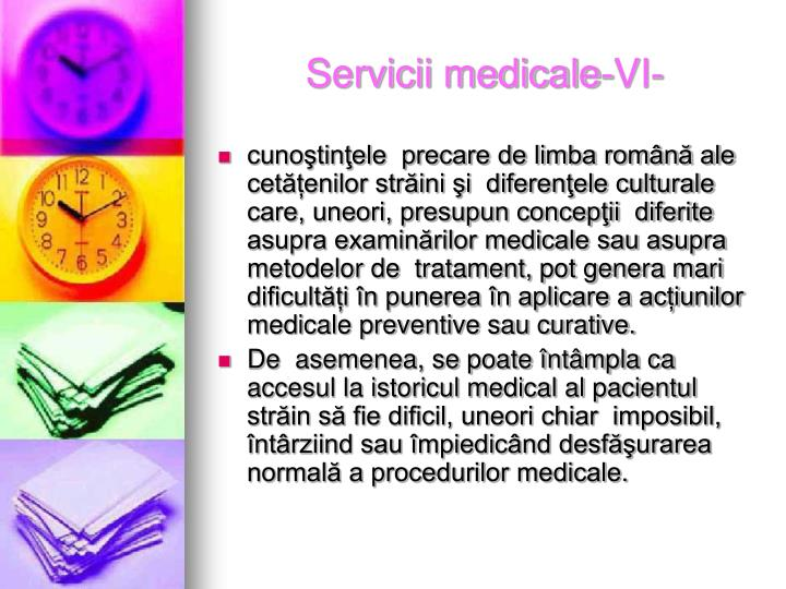 Servicii medicale-VI-
