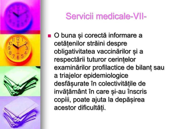 Servicii medicale-VII-