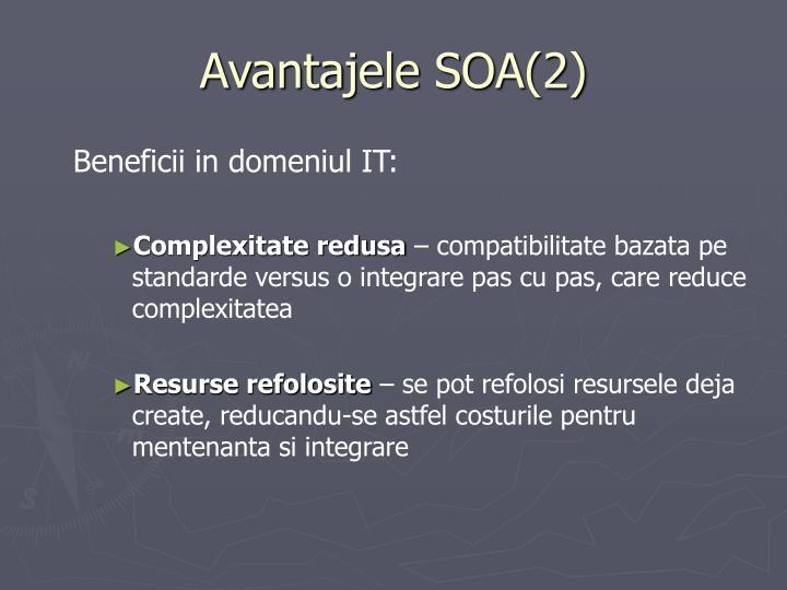 Avantajele SOA(2)