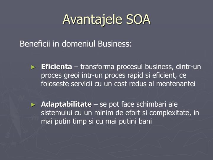 Avantajele SOA