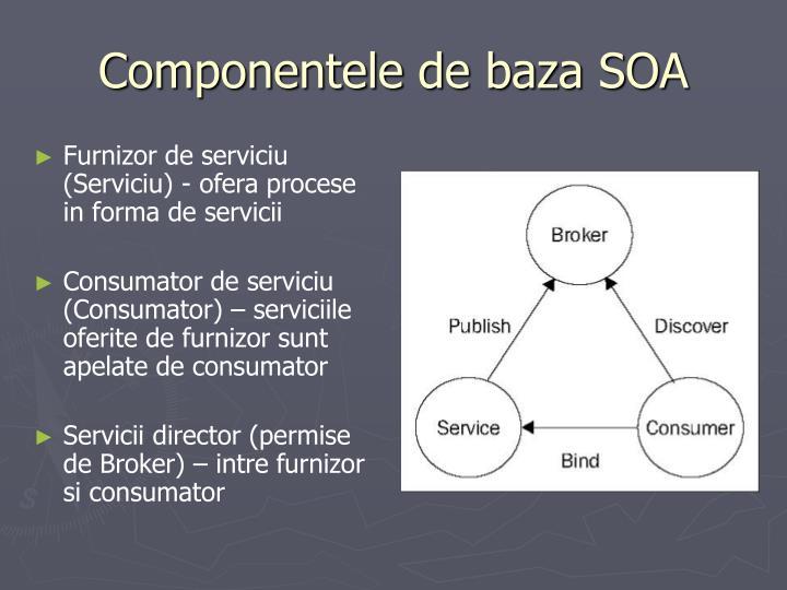 Componentele de baza SOA