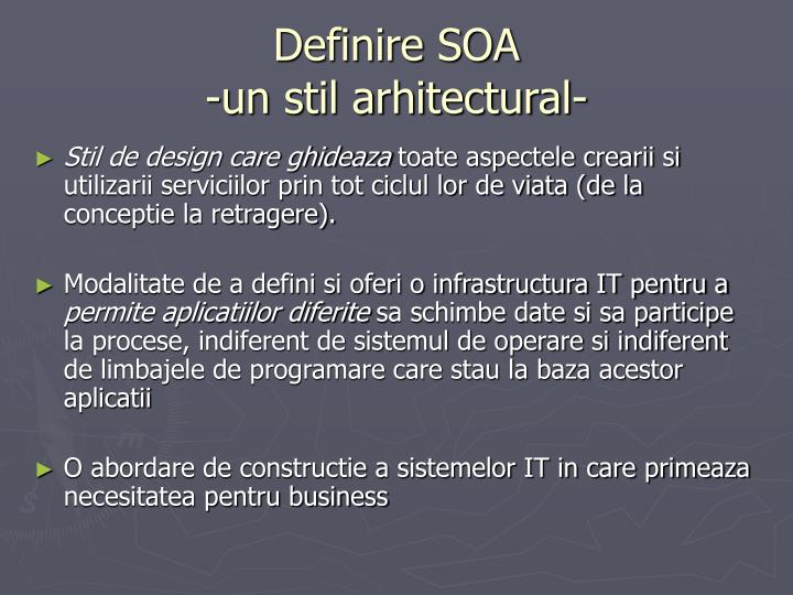 Definire SOA