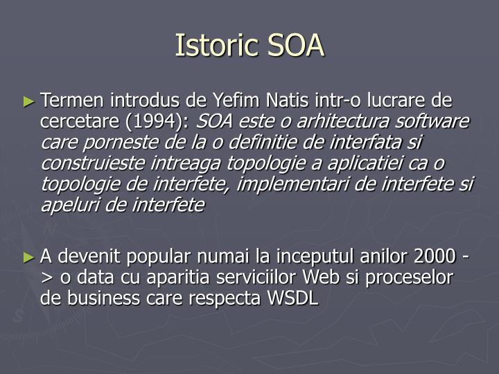 Istoric SOA