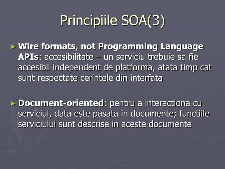 Principiile SOA(3)
