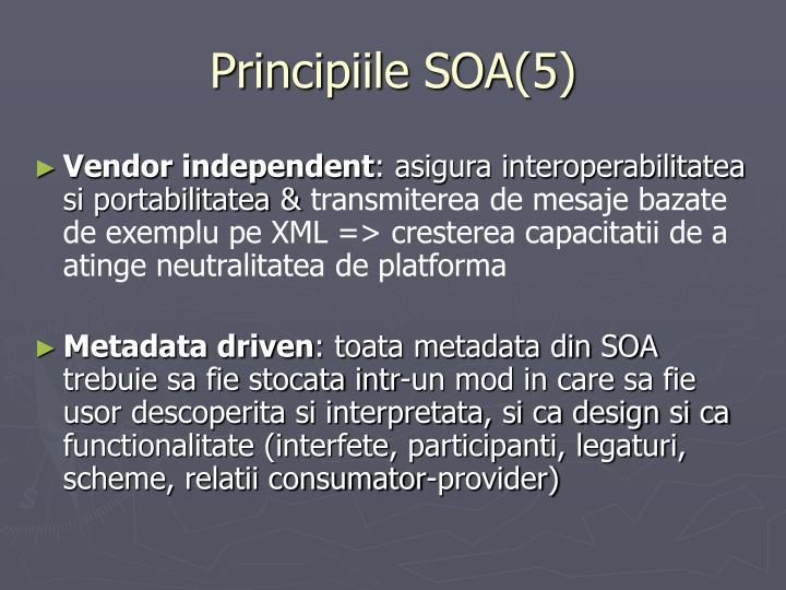 Principiile SOA(5)