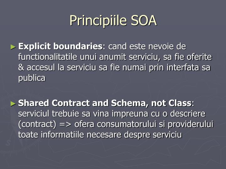 Principiile SOA