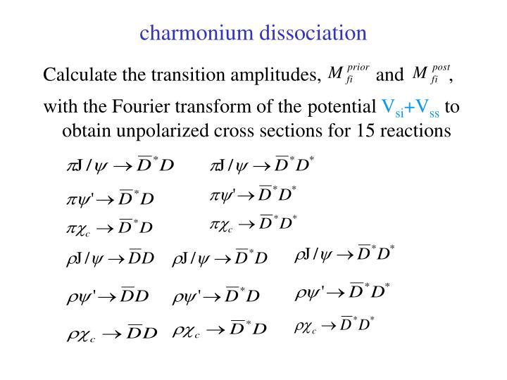 charmonium dissociation